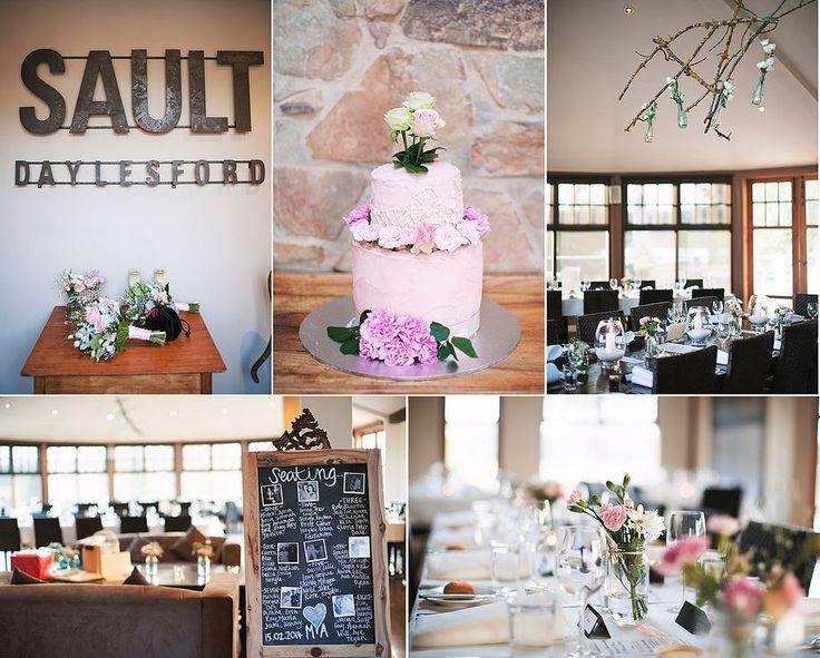 Wedding reception at Sault Restaurant in Daylesford, decorations