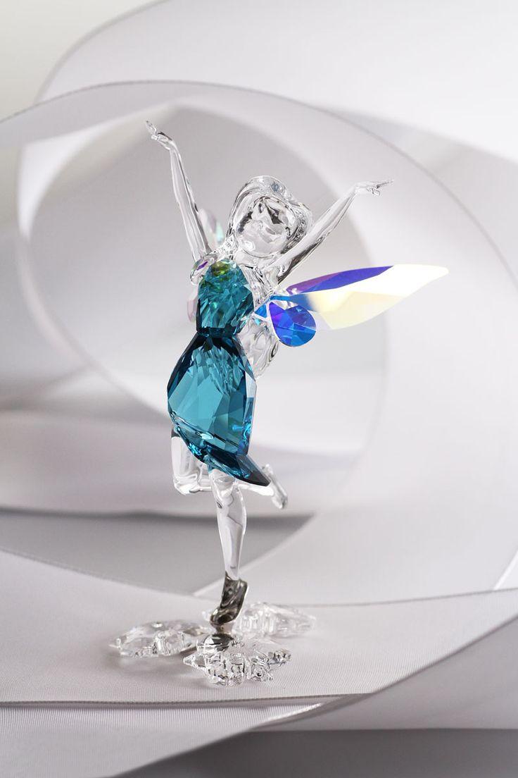 Swarovski disney silvermist fairy objetos decorativos io - Figuras de cristal swarovski ...