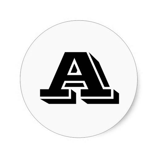Capital letter a small round stickers by janz