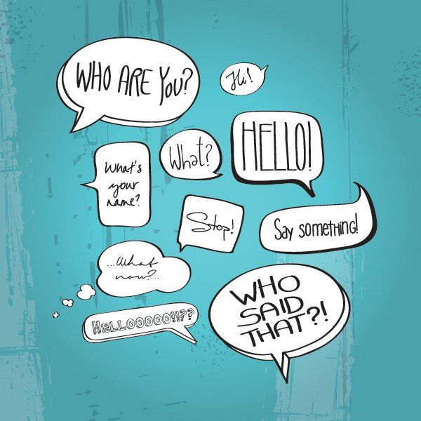 Comic Book Speech Bubbles Vector Graphic — speech bubbles, questions, balloons, cartoon, debate, drawn, forum