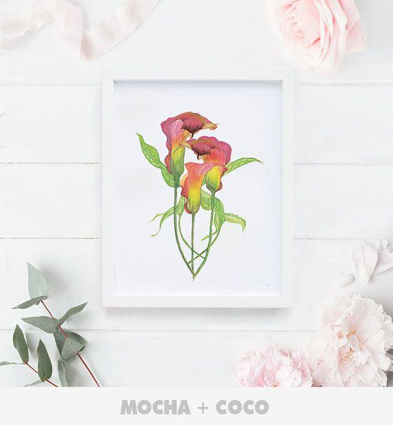 Zen Flower Peace Floral Print Floral Quote Floral by MochaAndCoco
