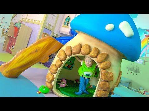 Маршал Щенячий Патруль и Настя играют на детской площадке Paw Patrol play indoor playground for kids - YouTube