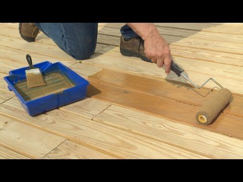 How To Stain A Deck: Olympic Paints U0026 Stains Demonstrates How To Properly  Stain A