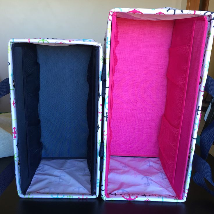 Medium Utility Tote vs Large Utility Tote with stand tall inserts. ThirtyOne June 2016 special