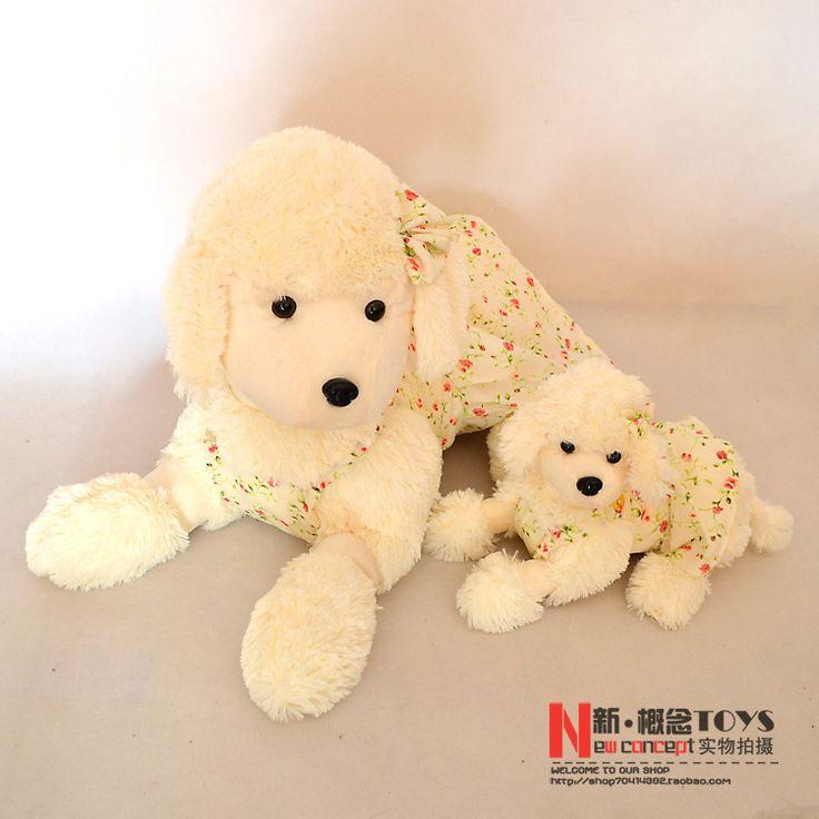 Чучела животных 60 см лежал плюшевый пудель собака игрушка красивая юбка пудель кукла большой подарок w410