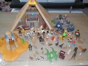 Lot de playmobil, Pyramide, Sphinx, Fort, personnages et accessoires | eBay