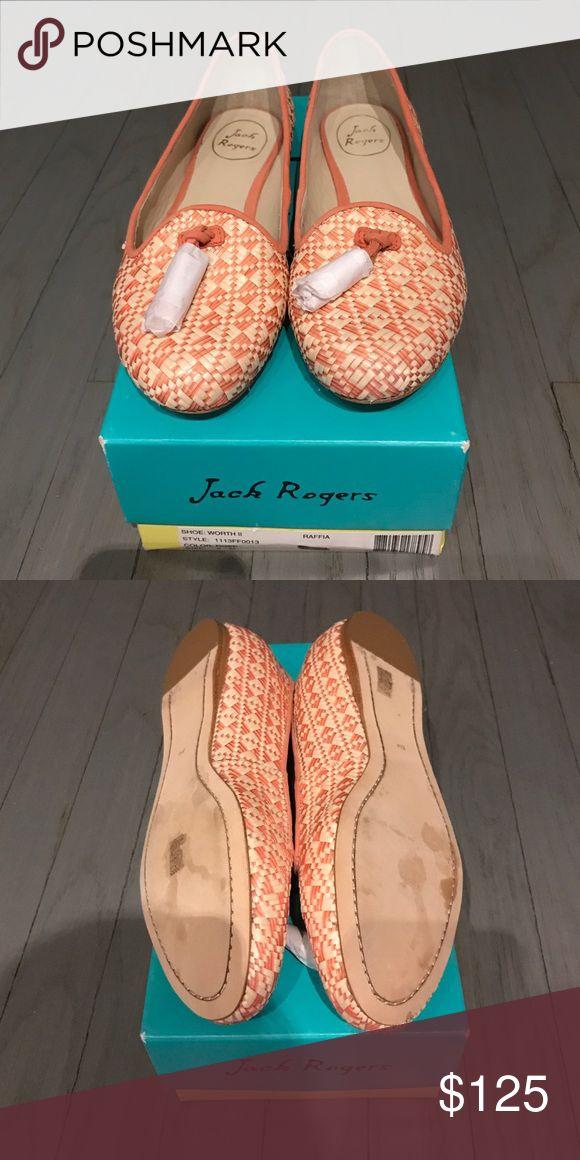 NWT Jack Rodgers raffia tassel loafers NWT Jack Rodgers raffia tassel loafers. Cream and Rose. Paper still on tassels Jack Rogers Shoes Flats & Loafers