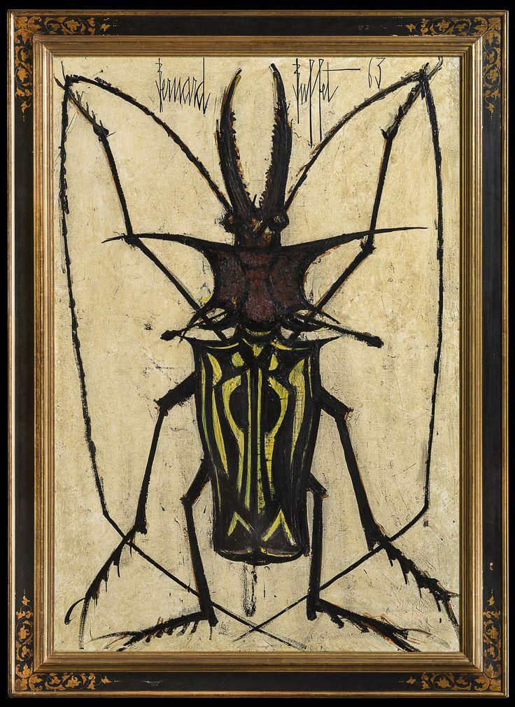 """Bernard BUFFET """"Le Longicorne"""", 1963 130 x 89 cm"""