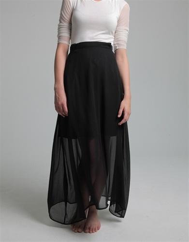 Black Chiffon Skirt