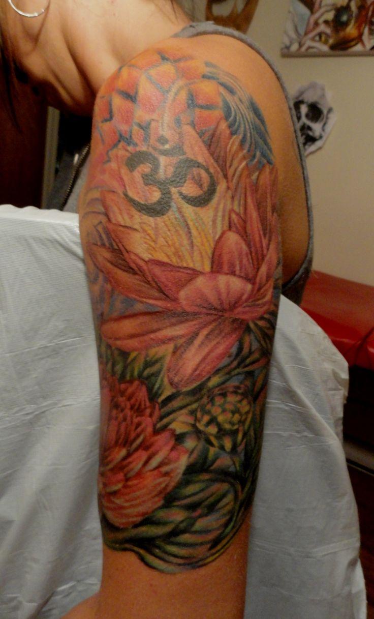 Lotus flower half sleeve Half sleeve tattoo, Half sleeve