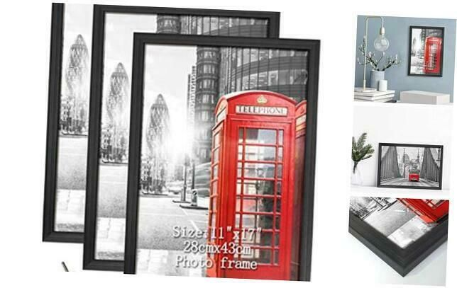 Details About Calenzana 11x17 Poster Picture Frames Black Photo Frame 11 X 17 Set Wall Hangin In 2020 Black Photo Frames Wall Hangin Photo Frame