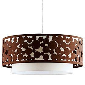 Lámpara de techo 2 luces Círculos marrón