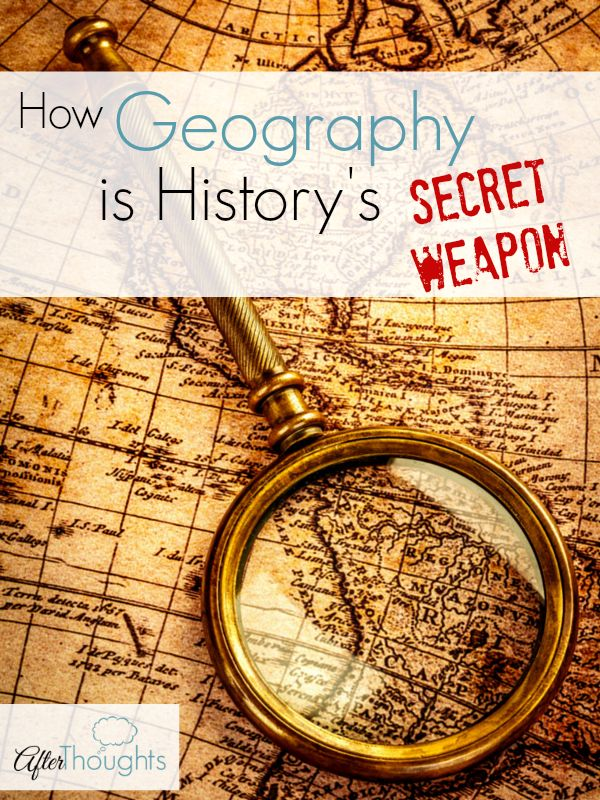 It is so tempting to think that geography is a pointless subject when it just might be the key that opens the door to history.