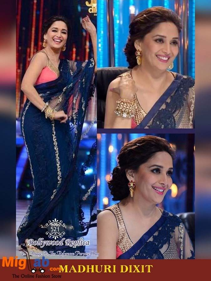 Buy #Madhuri Dixit Bollywood Saree                                                                                                                                                      More