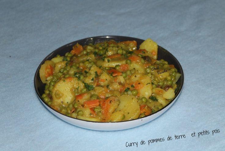 curry de pomme de terre petit pois carottes