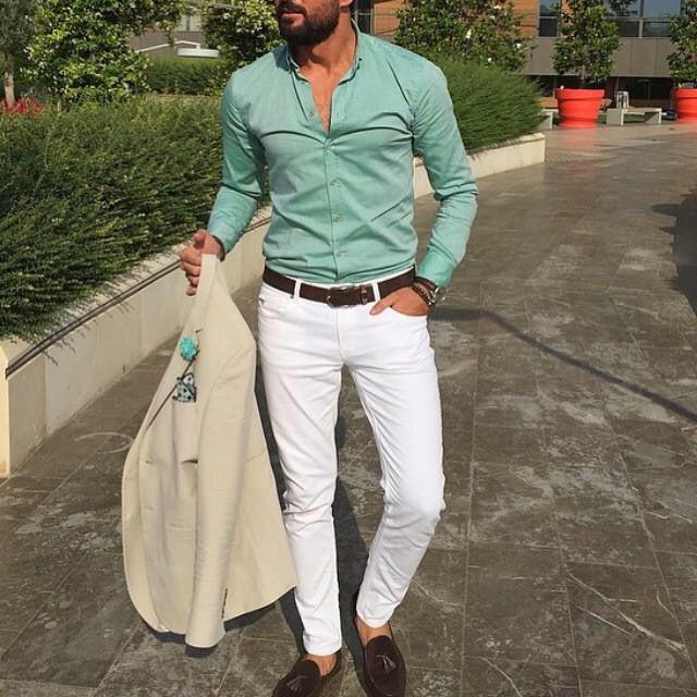 Pantalón Gabardina blanco
