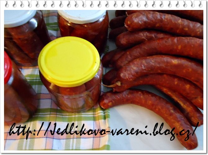 Jedlíkovo vaření: Zavařené klobásy