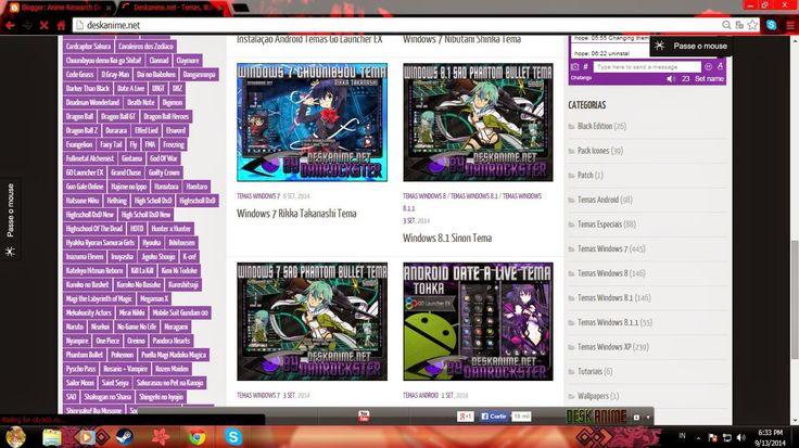 Anime Research Deck : How customize your windows XP,7,8,8.1 desktop!