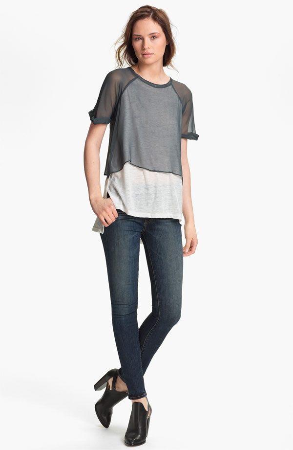 Elizabeth and James 'Amina' Double Layer Tee   Nordstrom ( contrast layering)