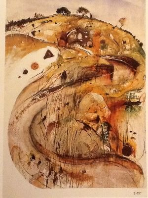 Brett Whiteley: Carcoar - Oil
