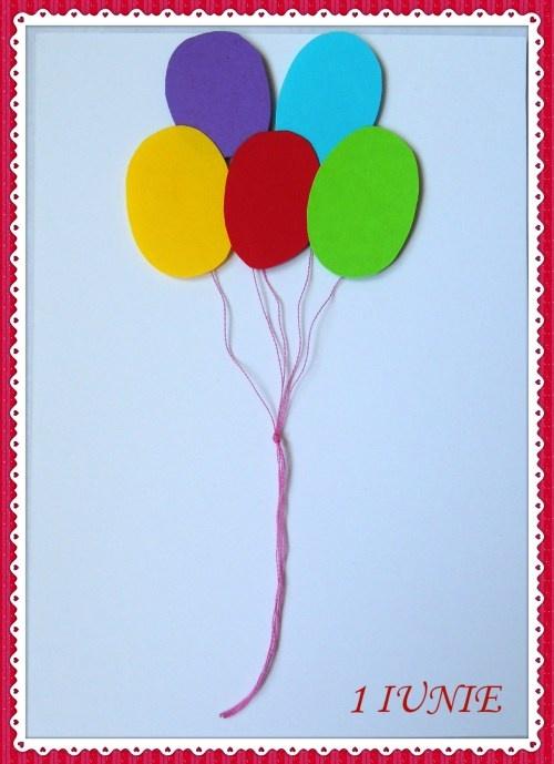 Felicitare cu baloane de 1 iunie
