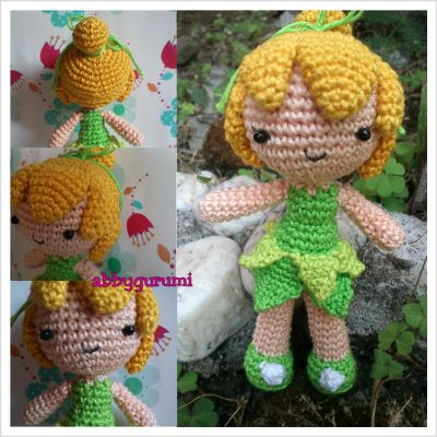 My latest proj made out of boredom XD Amigurumi Tinkerbell.