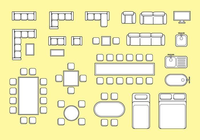 Floorplan Furniture Vector Download Free Vector Art Stock Floorplan With Isolated Furniture Elements In Top V Floor Plans Floor Plan Design Floor Plan Layout