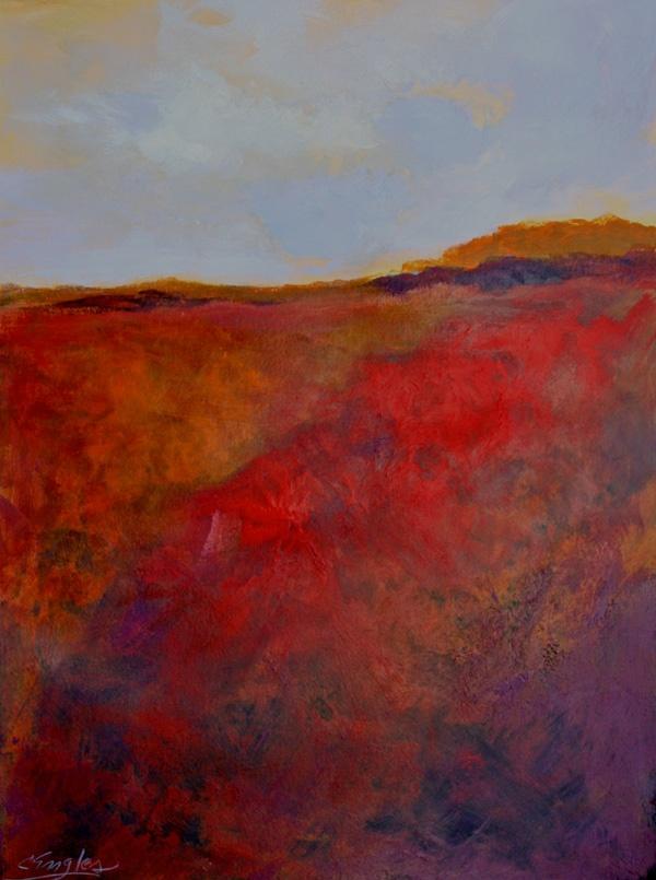 Carol Engles Art: Italian Field One, abstract landscape by Carol Engles