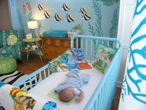 Ocean baby room ideas for a really sweet under the sea nursery