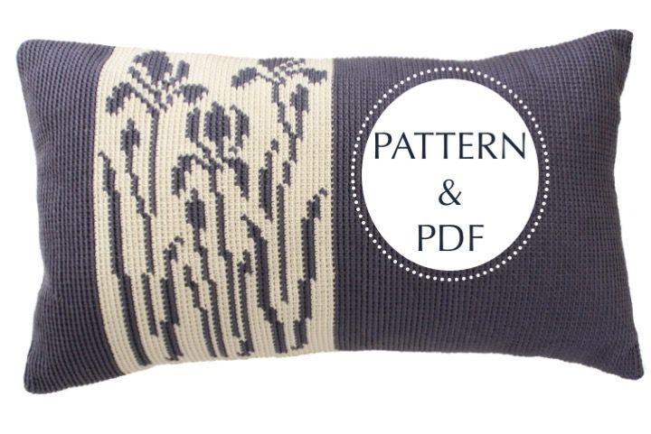 Iris+Crochet+Cushion+PATTERN+&+PDF, £5.00