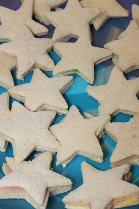 Starfish Sandwiches - Mermaid Party