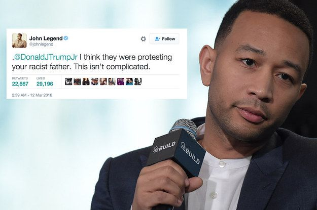 John Legend Had A Very Simple Answer When Trump Jr. Questioned Why People Were Protesting His Father - BuzzFeed News