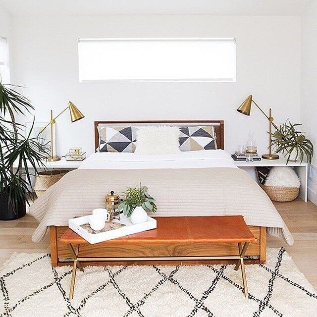 our Director's Bench makes the perfect footnote. tap link in bio to shop the look | photo + design: @sarahshermansamuel via @kristina100lc