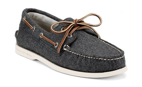 gray boat shoes