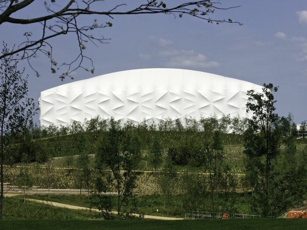 Temporary architecture in London: taking 'pop-up' to Olympic levels  By Reena Jana | June 20, 2012The Basketball Arena for the London 2012 Olympic Game: Big Architects, 2012 Olympics, London 2012, Basketball Arena, London Olympics, Basketb Arena, 2012 Basketb, Basketb Court, 2012 London