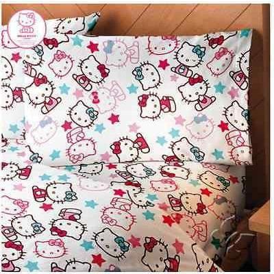 Sanrio Hello Kitty Sheet Set Girl's Bedroom Bedding Bed / Juego de Sabanas