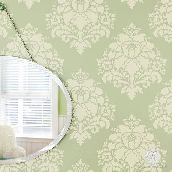 The 25 best Damask wall stencils ideas on Pinterest Damask wall