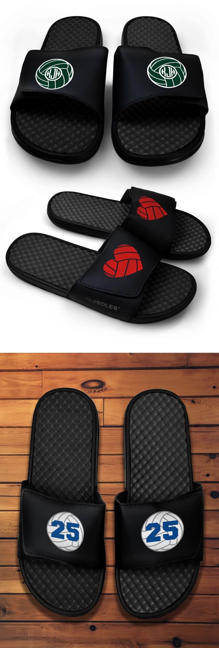 Black volleyball slide sandals available NOW at chalktalksports.com!