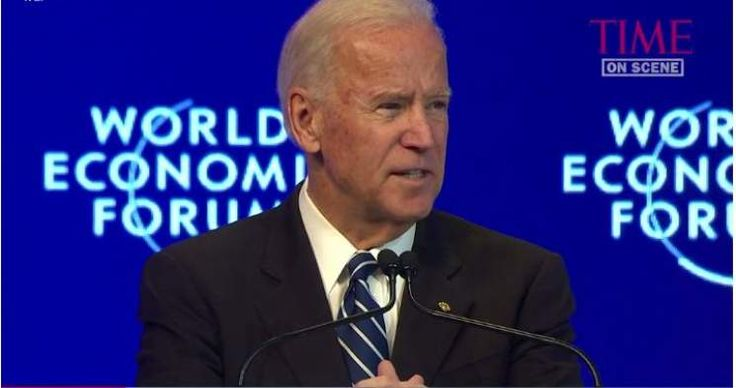 "At the World Economic Forum in Davos, Switzerland, Vice President Joe Biden said, ""It is imperative that we act urgently to defend the liberal international order."" by Warren Mass"