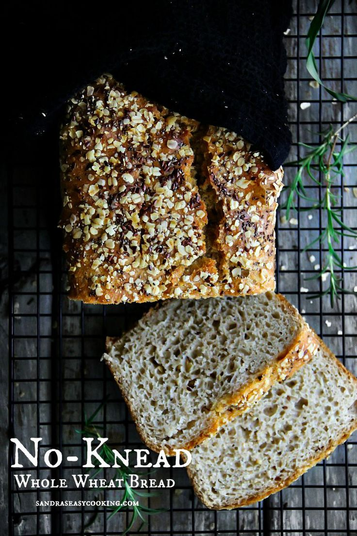 Check Out How Simple My No Knead Whole Wheat Bread Is And