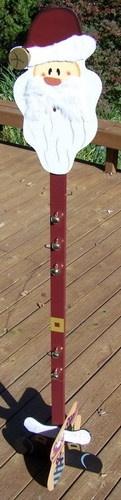 "New 71"" Tall Santa Christmas Stocking Stand Tree Holder Decorative Wood   eBay"