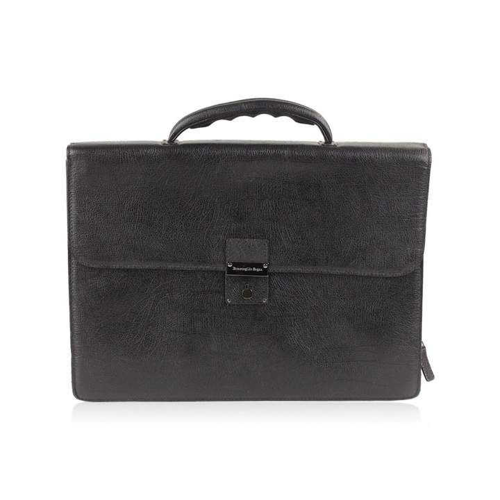 173829959583 Ermenegildo Zegna Leather handbag | Products | Black leather handbags,  Leather handbags, Bags
