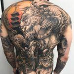 Oriental Dragons Back Tattoo | Best tattoo ideas & designs
