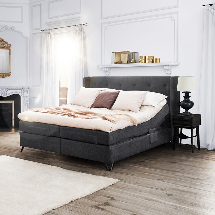 Jensen Aqtive II is an elegant adjustable bed, that looks like a continental divan set when it is inactive.