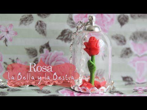 Rosa de arcilla La Bella y La Bestia - YouTube