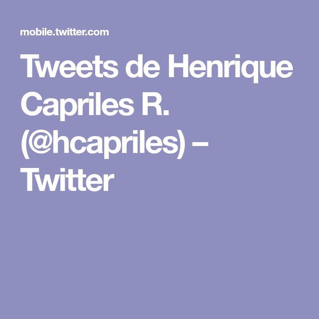 Tweets de Henrique Capriles R. (@hcapriles) – Twitter