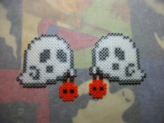 Citrouille Fantôme En Perle Hama Pour Halloween Perler Beadzz