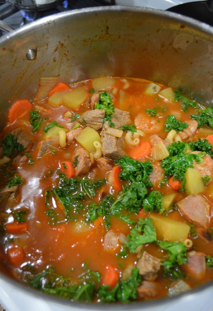 Portuguese Chourico Stew #recipe from simplybeingmommy.com.