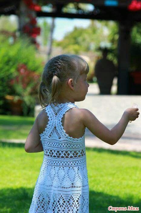 Vestido crochet para niña
