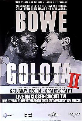 Riddick bowe vs. andrew golota / #original full-size caesars #boxing #fight poste,  View more on the LINK: http://www.zeppy.io/product/gb/2/131728620647/